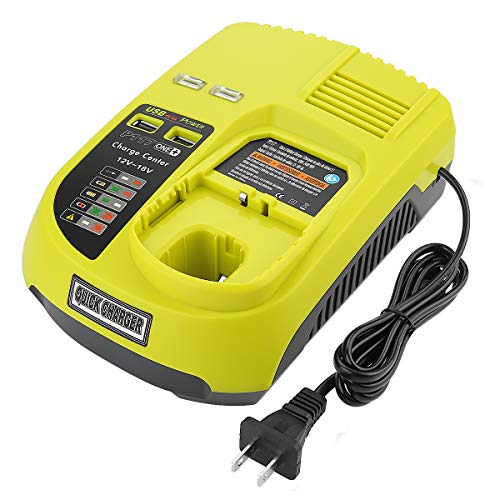 - Powilling P117 Dual Chemistry IntelliPort Charger Li-ion & Ni-cad Ni-Mh Battery Charger 12V MAX and 18V MAX For Ryobi ONE Plus
