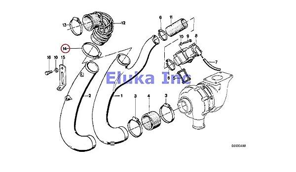 Amazon Com 3 X Bmw Genuine Oil Exhaust Manifold Fuel Feed Radiator