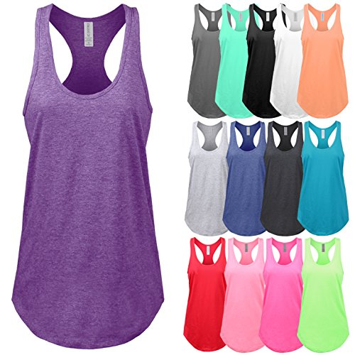 d803598893b0d9 Buy JC DISTRO Women s Basic Jersey Racer-Back Tank Top with Scallop ...