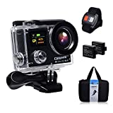 Campark® Sports Action Camera-dual Screen, 4k 25fps, 1080p 60fps,wifi,waterproof RF Remote Control,2pcs Batteries with Shockproof case included.