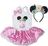 Kirei Sui Birthday Pink Polka Dots Tutu Dress MouseHeadband S Three