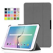 Tisuns Samsung Galaxy Tab E Lite 7.0 Case - Ultra Slim Lightweight Stand Cover for Samsung Galaxy Tab 3 Lite 7.0 SM-T110 / SM-T111 / Tab E Lite SM-T113 7-Inch Tablet, Gray