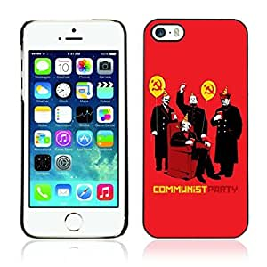 Colorful Printed Hard Protective Back Case Cover Shell Skin for Apple iPhone 5 / 5S ( Communism Party Funny Illustration )