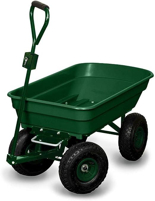 Carrito Remolque de jardín 120 kg Capacidad 52L: Amazon.es: Jardín