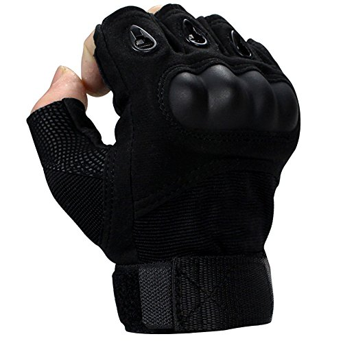Gloves outdoor protective fighting army fan half refers to multi-function riding roller skating climbing stab-resistant male cut-proof (Size : M)