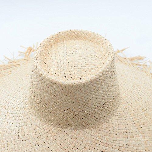 2bcc8d5f Amazon.com : ALWLj Bucket Hat Summer Sun Hat for Women Frayed Edge Raffia  Straw Beach Hat Hot Fashion Floppy Hats : Sports & Outdoors