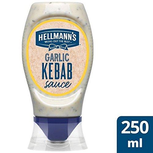 Ajo 250Ml Salsa De Kebab De Hellmann (Paquete de 6)