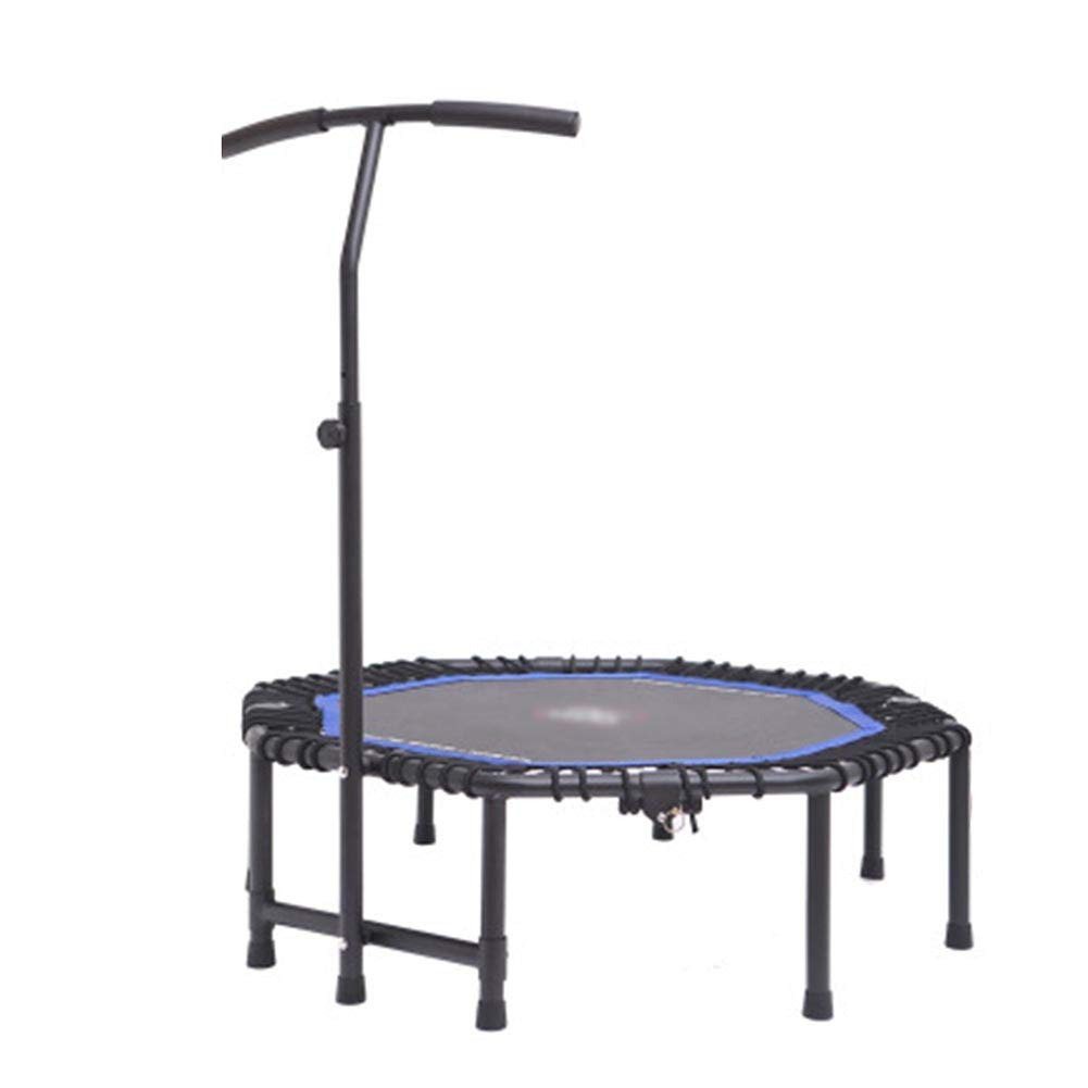 Gartentrampoline Trampoline mit verstellbarem Handlauf Lenker, 48 Zoll Indoor oder Outdoor-Fitnessgeräte maximale Belastung 330lbs