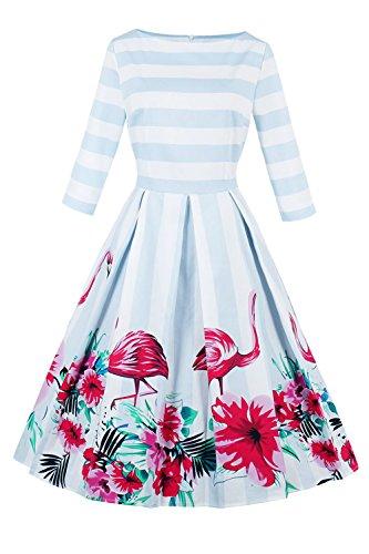 Babyonlinedress Bayonlinedress Scoop Neck Knee Length Formal Evening Dress,lamingo,L