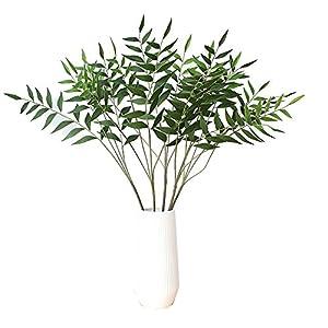 "Warmter Artificial Plants 32"" Artificial Eucalytus Green Branches Fake Shrubs Plastic Greenery Plants House Office Decor(2pcs) 113"