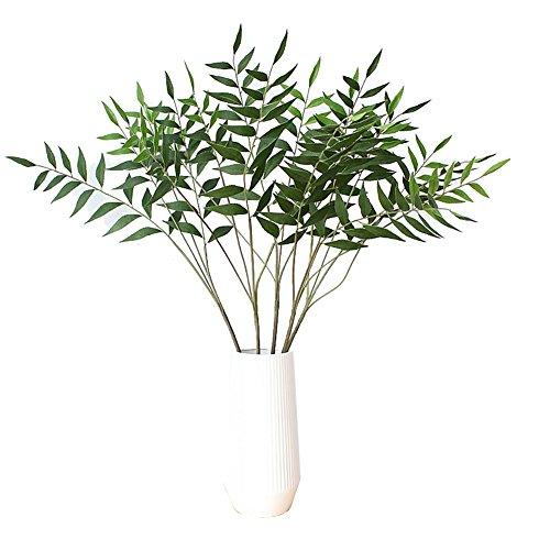Warmter Artificial Plants 32 Artificial Eucalytus Green Branches Fake Shrubs Plastic Greenery Plants House Office Decor(2pcs)