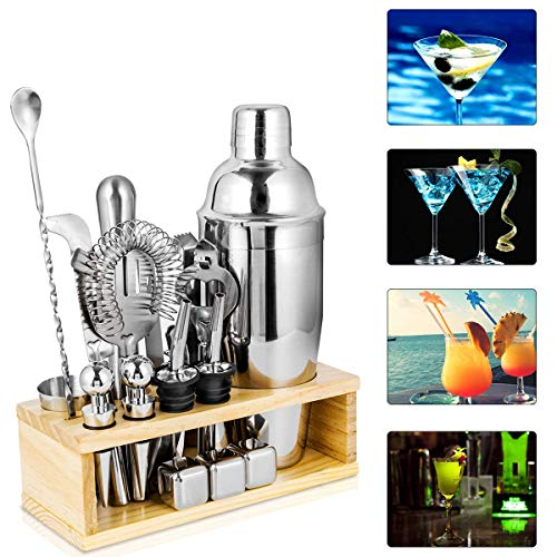 25oz Cocktail Shaker 17pc Bartender Kit with Stand,Professional Stainless Steel Bar Tool Set Bartending Kit Perfect for Drink Mixing Experience by Segauin (Image #6)