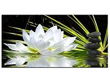 Declina Tableau Zen Fleur De Lotus Et Galets 60x30 Top Vente