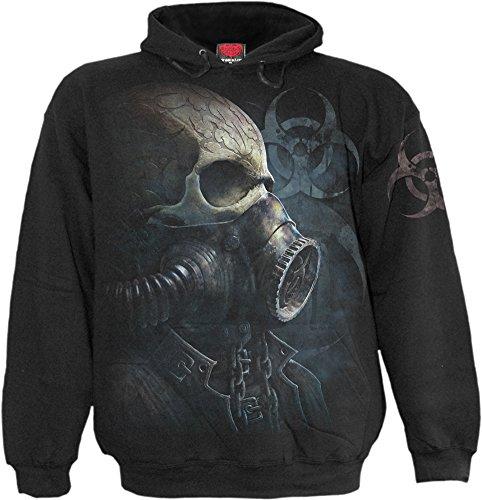 Spiral - Mens - BIO-Skull - Hoody Black
