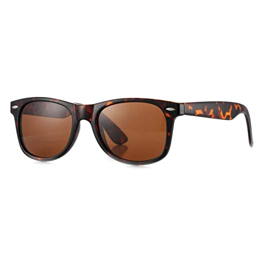 1cf93109693 Image Unavailable. Image not available for. Color  MLC Eyewear Vintage 80 s  Retro Classic Horn Rimmed Polarized Unisex ...