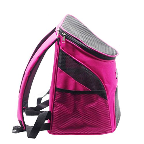 Yicat Breathable Easy Access Zippered Top Backpack Pet Carrier with Mesh Windows (Pink) Review