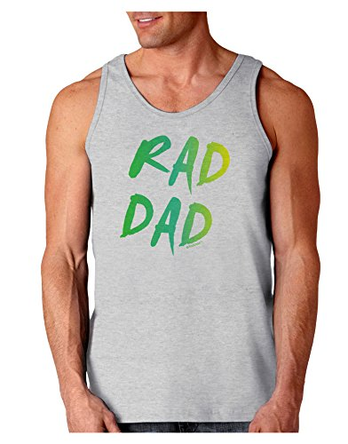TooLoud Rad Dad Design - 80s Neon Loose Tank Top - Ash Gray - Medium for $<!--$14.99-->