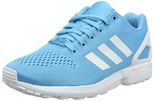 adidas ZX Flux Em, Sneaker Uomo Blu (Bright Cyan/Ftwr White/Bright Cyan)