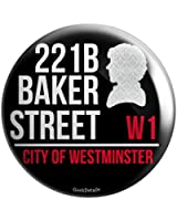 "Geek Details 221b Baker Street Sherlock's Address 2.25"" Pinback Button"