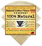 P&F(3 pack)Natural Reusable Coffee Filters 02, Hario V60 02 Style, No Harmful Chemical, All Natural