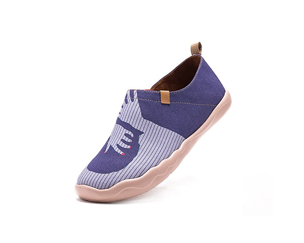 UIN Women's Hug Painted Canvas Casual Slip-on Shoe Purple B01DK37THK 5.5 B(M) US