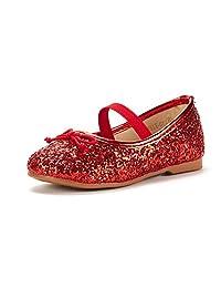 DREAM PAIRS Toddler Girls Dress Flat Shoes Mary Jane Ballerina