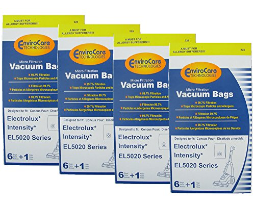 (24 Electrolux Intensity EL5020 Series Mico Filtration EL206 A Bags & 4 Filter, Upright, Eureka Maxima Canister Vacuum Cleaners, EL206A and EL206,972b - this is not an exact fit. Check)