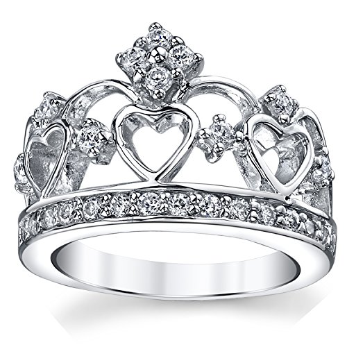 bague argent en forme de couronne