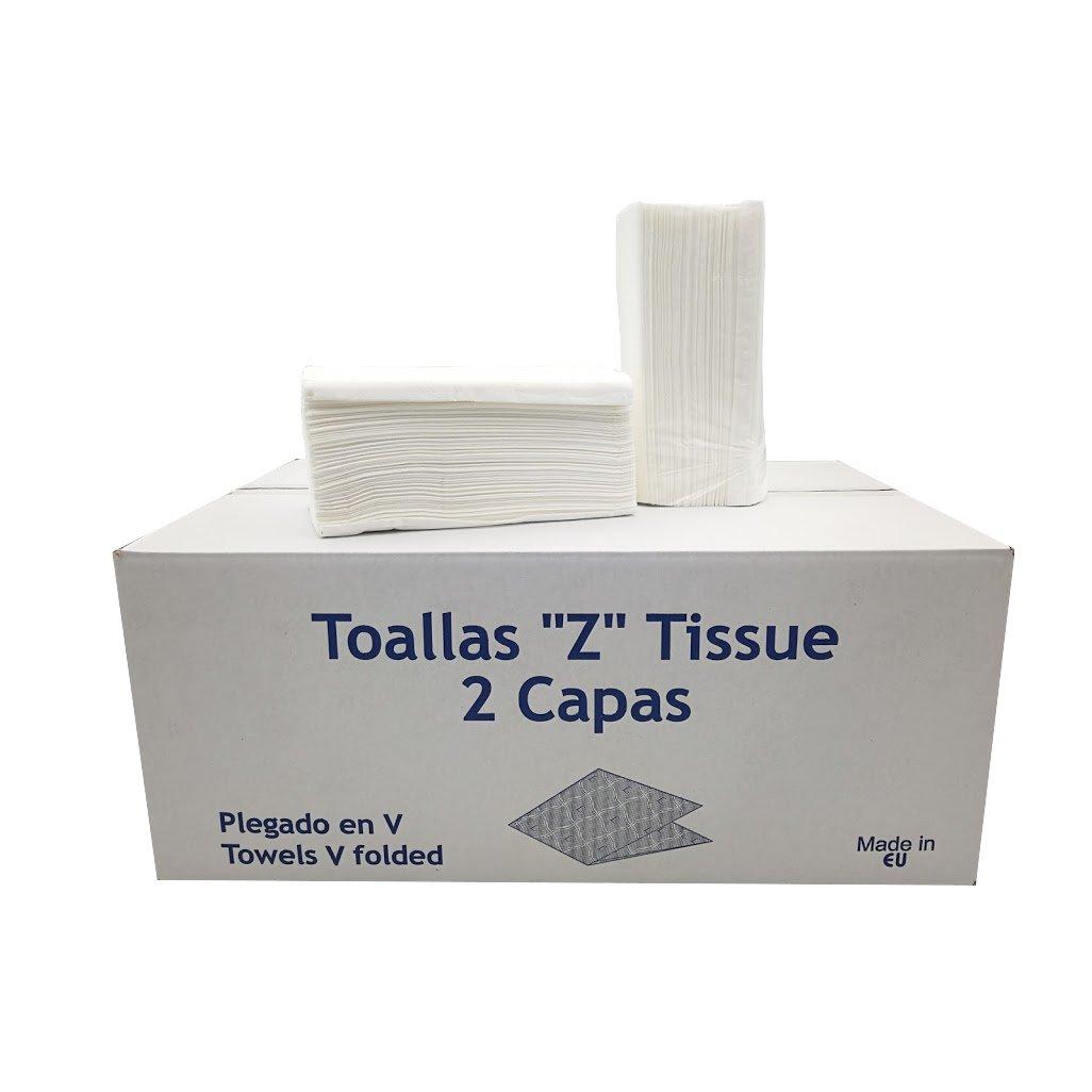 Caja de 20 paquetes de Toallitas Z Tissue o toallas Zig Zag secamanos