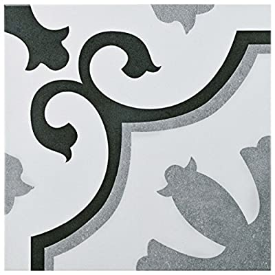 "SomerTile FCG12VIE Aude Ceramic Floor and Wall Tile, 12.38"" x 12.38"""
