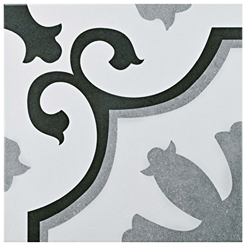 SomerTile FCG12VIE Aude Ceramic Floor and Wall Tile, 12.38