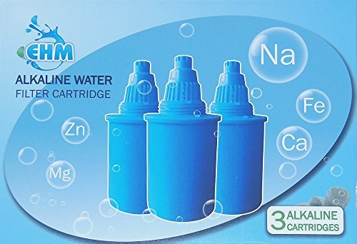 3-PC-Filter-Replacement-Cartridge-for-EHM-Alkaline-Mineral-Water-Ionizer-Pitcher-35L--3-PC