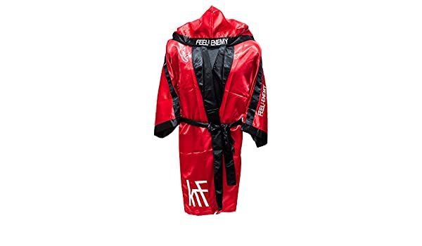 KRF Feel The Enemy 0013303 Bata competición de Boxeo, Hombre, Rojo, L: Amazon.es: Deportes y aire libre