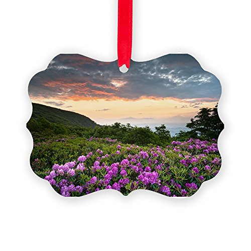 CafePress - Blue Ridge Parkway Mountains Suns - Christmas Ornament, Decorative Tree Ornament (Christmas Ornaments Ridge Garden)