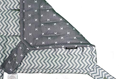 (Strollerwagons Reversible Bucket Liner for Keenz 7S Stroller Wagon (Chevron/Lightning Bolts))