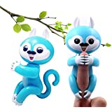 Sawyou Interactive Baby Finger Squirrel Smart Electronic Pet Toy for Children, Induction Toys,Best Gift for Christmas (BLUE2)