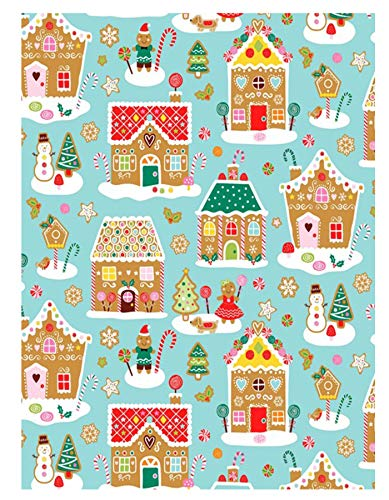 (Newbridge Home Sweet Home Gingerbread Christmas Print Vinyl Flannel Backed Tablecloth by, Whimsical Novelty Xmas Holiday Tablecloth, (60 Inch x 84 Inch Oval))