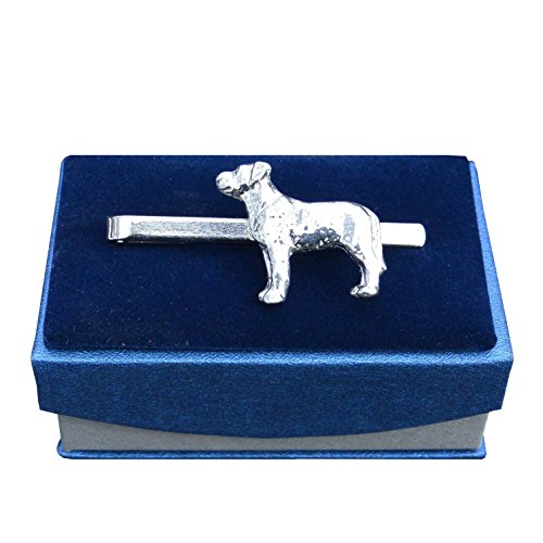 Luxe lourds Labrador en étain pince à cravate ou diapositive, Handcast par William Sturt