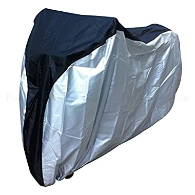 FOME Bike Cover 190T Heavy Duty Bicycle Waterproof Outdoor Cover- Silver with Black+ FOME GIFT
