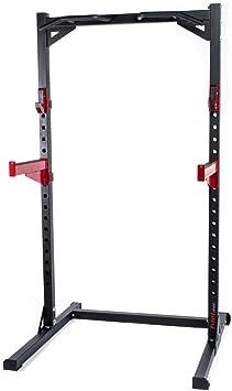 Fuel Fitness Half Cage HR300 - Rodillera ajustable con bandejas de seguridad, soporte para squat con soporte para pesas largas, soporte para rodillas con barra de dominadas, soporta hasta 272 kg: Amazon.es: