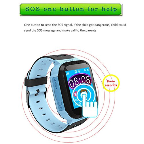 Smart Watch for Kids, LBS Monitor Locator Watch Phone Two-way Call Activity Tracker With  Electronic Fence SOS Safe Anti-Lost Location Device Tracker for Kids Safe by TKSTAR (Image #8)