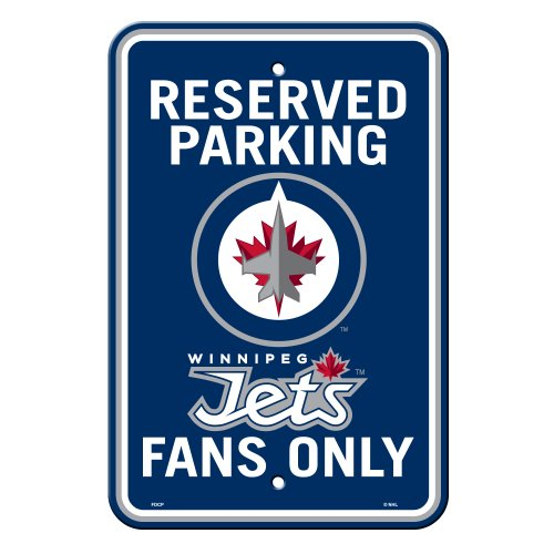 NHL Winnipeg Jets Reserved Parking Sign, 12