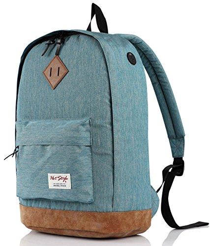 (hotstyle 936Plus College Backpack High School Bookbag, LightTurquoise)