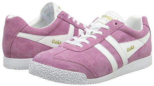 Gola Women's Harrier Sneaker,Dusky Pink/White Suede,US 9 M