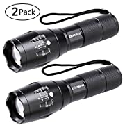 #LightningDeal 67% claimed: LED Tactical Flashlight, Binwo Super Bright 2000 Lumen XML T6 LED Flashlights Portable Outdoor Water Resistant Torch Light Zoomable Flashlight with 5 Light Modes