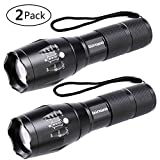 LED Tactical Flashlight, Binwo Super Bright 2000 Lumen XML T6 LED Flashlights Portable Outdoor Water Resistant Torch Light Zoomable...