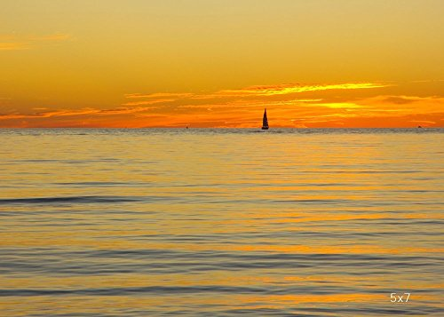 Lake Michigan art photography, sunset photo print, 5x7 to 30x45