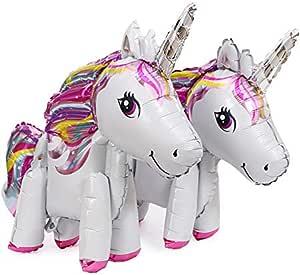 2pcs 3D Unicorn Party Balloons Unicornio Wedding Foil Ballon Birthday Party Decor