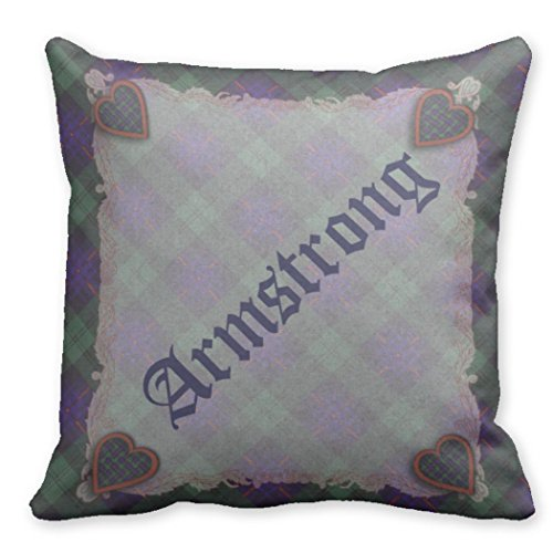 Kronial Throw Pillow Case Covers Armstrong Scottish clan tar