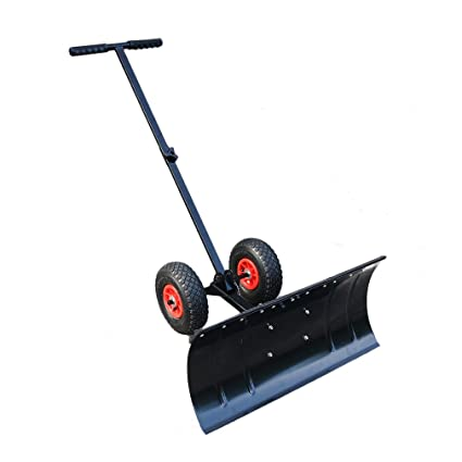 Empujador de nieve con ruedas , Palas quitanieves, Pala para Quitar Nieve de Hielo/